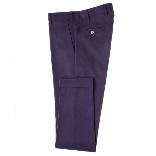 Purple cotton trousers
