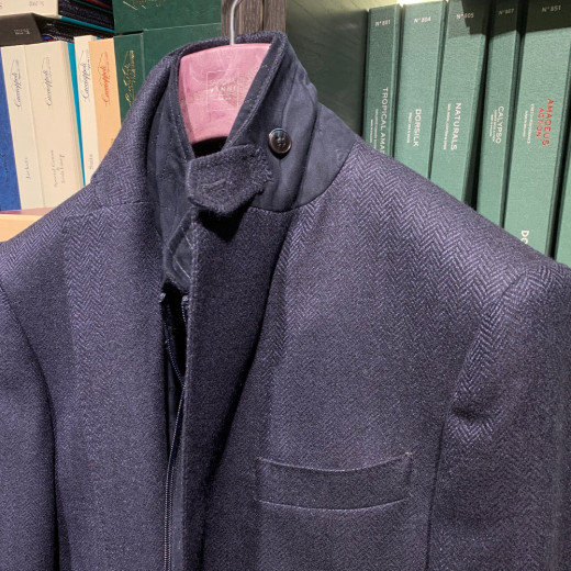 Blue jacket with removable vest