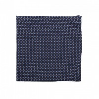 Printed linen pocket square
