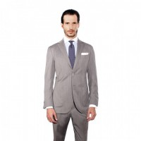 GREY HERRINGBONE TWO-PIECE SUIT