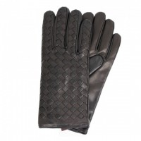 Dark brown nappa gloves