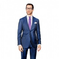 HERRINGBONE TWO-PIECE SUIT