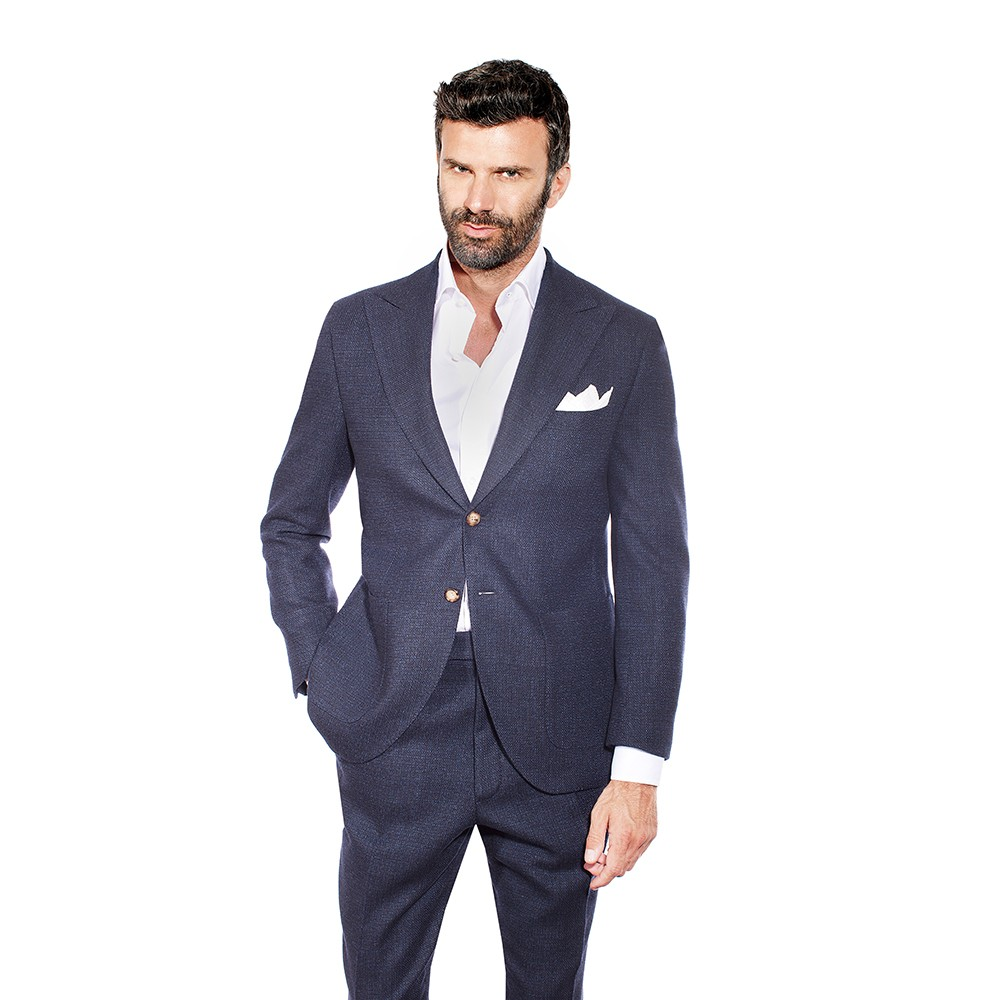 Dark Blue Two Piece Suit Sartoria Vanni 1818 Firenze