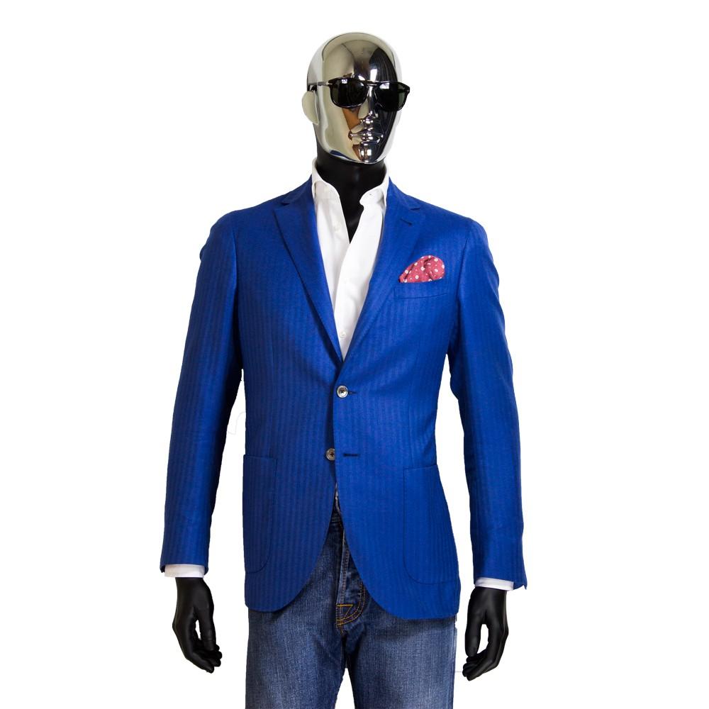 free shipping 1029a f4202 Giacca blu di cashmere sfoderata | Loro Piana - Sartoria ...