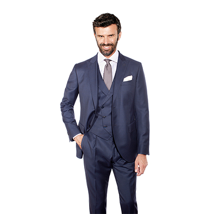 BLUE THREE-PIECE SUIT