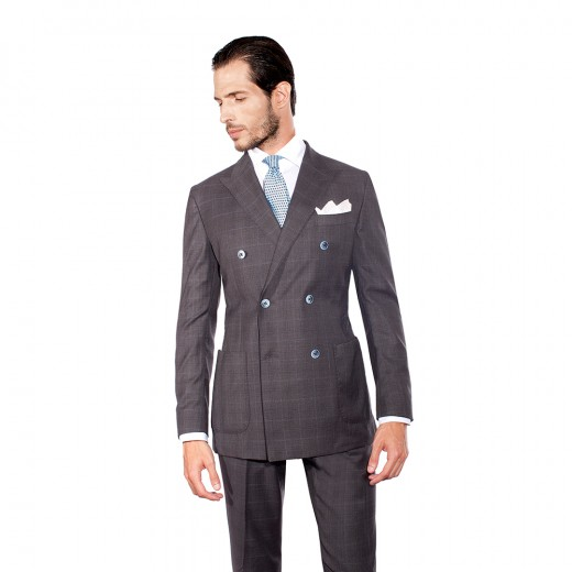 DOUBLE-BREASTED TWO-PIECE SUIT