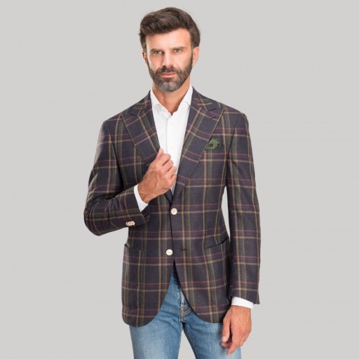 WINDOPANE BLAZER IN CASHMERE