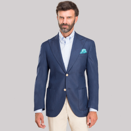 Herringbone blue jacket