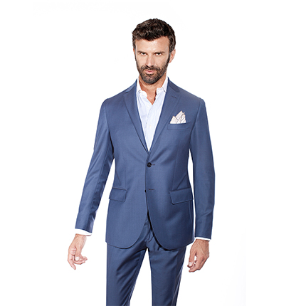 LIGHT BLUE TWO-PIECE SUIT