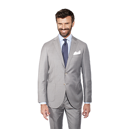 LIGHT GREY TWO-PIECE SUIT