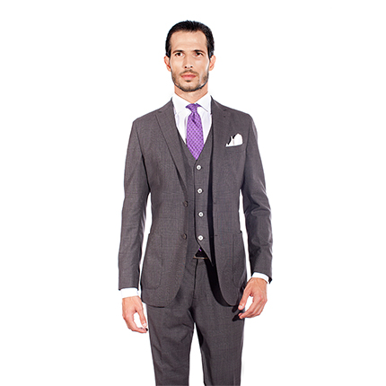 PRINCE OF WALES THREE-PIECE SUIT